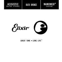 ELIXIR ITALIA 15124 ACOUSTIC 80/20 BRONZE NANOWEB SINGLE