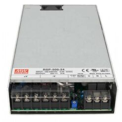 Alimentatore CV Trasformatore 500W 24V 21A Mean Well RSP-500-24